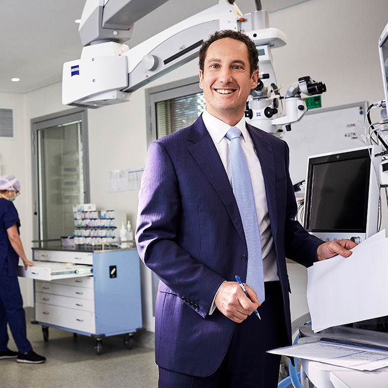 Andrew Petering Nexus CEO smiling in medical room