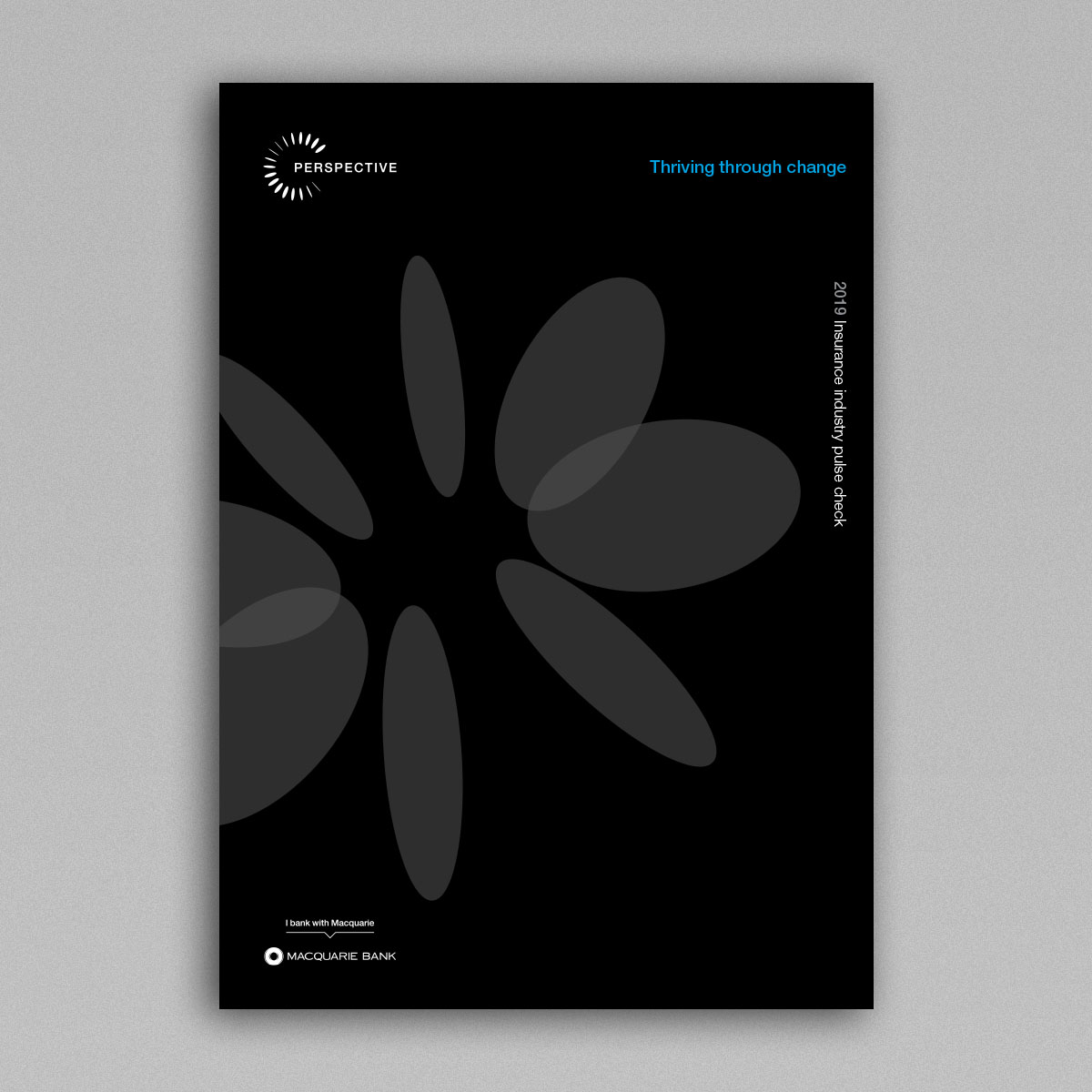 Image of front cover of insurance industry pulse check report on a grey background